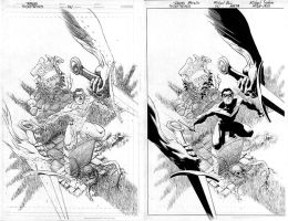 NightWing 141 pencils to inks by MichaelBair