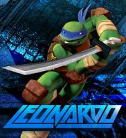 The coolest turtle is the leader. by Leonardo-Hamato