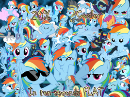 Rainbow Dash's Many Faces by Xeybhls