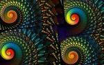 Stained Glass Spirals by wolfepaw