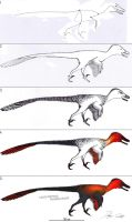 Step by step tutorial: VELOCIRAPTOR by Dennonyx