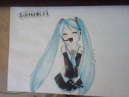 Hatsune Miku by crazymoiraillegiance