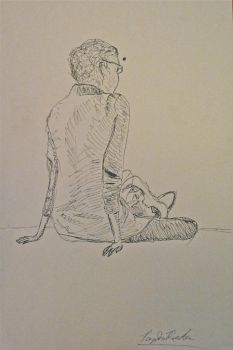 Study in Pen and Ink by Prader