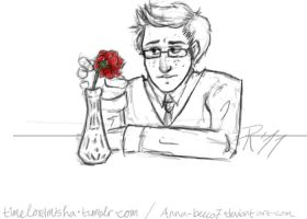 Ten and his Rose by anna-becca7