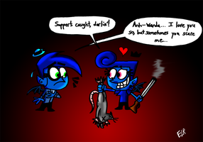 Anti-Cosmo and Anti-Wanda- Supper Time! by ElectricLimeRose