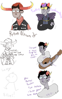 sketch dump 5 Favorite homestuck characters by Bits-of-Bots