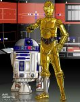 R2-D2 and C-3PO  2003 by Punisherfan