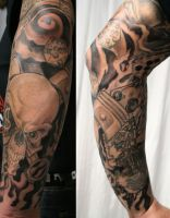 New School ArmSleeve Mix 1 by 2Face-Tattoo