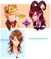 Bust Commission Batch 2 by chisacha