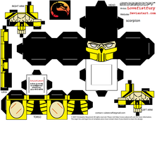 Mortal Kombat trilogy scorpion cubee by lovefistfury