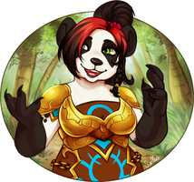 [commission] Pandaren Waist Up by SirMeo