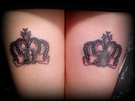 Royal Crown tattoo back of the thighs. by CalebSlabzzzGraham