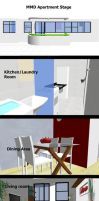 MMD Apartment Stage ~Converted with SketchUp~ by swiftcat-mooshi