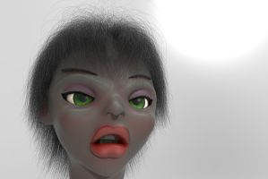 Zbrush doodle day 296 - Anette by UnexpectedToy