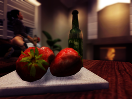 Strawberrys and Wine by iTzApy