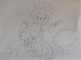 Bring it! - sketch by ashy101hedgehog