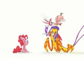 King Candybug and Pinkie Pie by QuynzeL