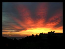 Mallorcan Sunrise Red and Gold by fuzzy