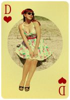 Pin Up Queen of Hearts by gkojadinovic