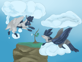 PKMNation Payment: Poochycrows in the sky by Keartricity