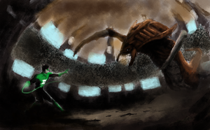 green lantern v hydralisk by whatthebooty