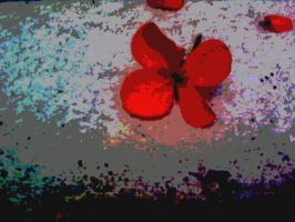 Solarized Flower. Poster FX. by idontneedheaven