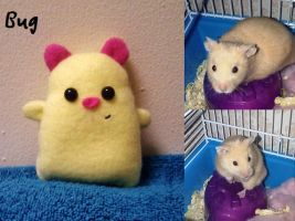 Bug the Hamster Plushie by EmrT