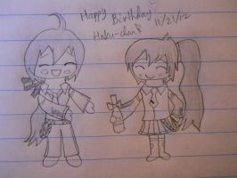 Happy Bday Haku! ^^ by Papillon-P