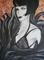 Black and White Art Deco Woman by Bex013
