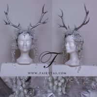 Silver winter Antlers by Jolien-Rosanne