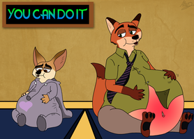 Expecting Foxes by FurryLovePup