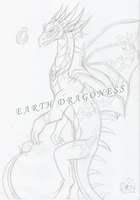 Firedragon Sketch W.I.P by LadyEarthDragoness