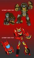 TF Wood Man n' Quick Man by FlamedramonX20