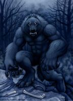 Werewolf Standing There by kyoht