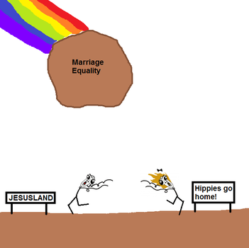 Gay Marriage comes to Jesusland by FabianMoonwillo