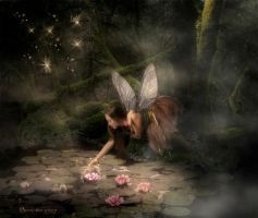 The fairy and the water-lily by RavensLane
