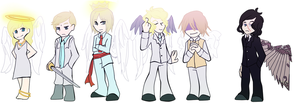 Angels angels everywhere by AshyIggybrows