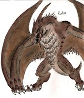 Rodan by MonsterKingOfKarmen