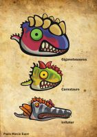 Bighead Dinos colection by pauloomarcio