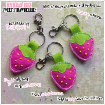 Cute Strawberry Keychains by shiricki