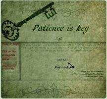 Patience is Key Journal Skin by Lost-in-Hogwarts