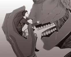 Bertholdt and  Armored Titan by Little-Him