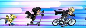 FFVII: One Wheeled Angel by Risachantag