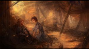 The Hobbit: Fili and Sigrid by Fiveonthe