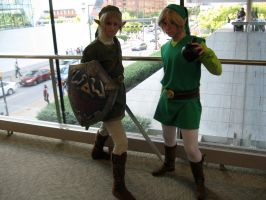 Link and Toon Link by AngstyGuy