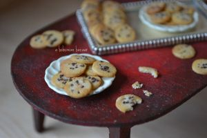 Chocolate Chip Cookies 1:12 Scale by abohemianbazaar