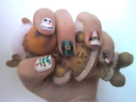 Christmas Nail Design 2 by Experimently-Bernsie
