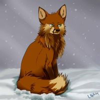Fox In Snow by LittleNekoma