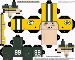 Ray Nitschke Packers Cubee by etchings13