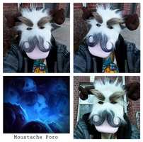Moustache Poro - League of Legends Mask Contest by XxShirokoxX